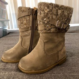 Toddler girl taupe boots